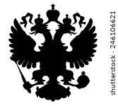 two headed eagle. royal symbol. ... | Shutterstock .eps vector #246106621