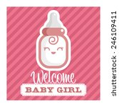pink baby shower greeting card... | Shutterstock .eps vector #246109411
