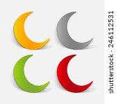 realistic design element  moon | Shutterstock .eps vector #246112531