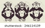 the three wise monkeys  also... | Shutterstock .eps vector #246114139