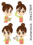 young housewife who reports  | Shutterstock .eps vector #246127849