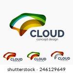 modern cloud company logo set ...   Shutterstock .eps vector #246129649