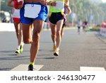 marathon running race  people...   Shutterstock . vector #246130477