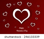heart valentine's day background | Shutterstock . vector #246133339