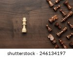 chess uniqueness concept on the ... | Shutterstock . vector #246134197