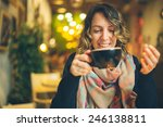 woman with smart phone in...   Shutterstock . vector #246138811