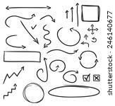hand drawn arrows set   Shutterstock .eps vector #246140677