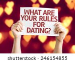 what are your rules for dating  ... | Shutterstock . vector #246154855