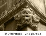 gargoyle with protruding tongue....