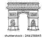 arc de triomphe vector. | Shutterstock .eps vector #246158845
