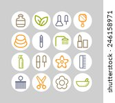set of simple icons for beauty  ... | Shutterstock .eps vector #246158971