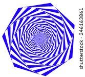 geometric object of spiral... | Shutterstock .eps vector #246163861