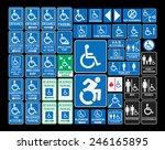 handicap signs | Shutterstock .eps vector #246165895