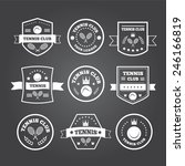 tennis sporting vintage emblems ... | Shutterstock .eps vector #246166819