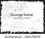abstract grunge frame. vector... | Shutterstock .eps vector #246170329
