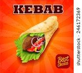 sandwich kebab | Shutterstock .eps vector #246172369
