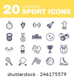 sport icons. the best deal for... | Shutterstock .eps vector #246175579