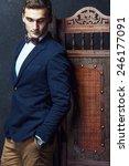 english gentleman beauty... | Shutterstock . vector #246177091