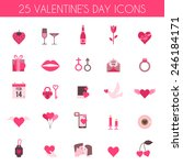 valentine's day and wedding... | Shutterstock .eps vector #246184171