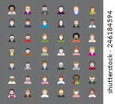 people diversity portrait... | Shutterstock .eps vector #246184594