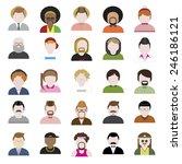 people diversity portrait... | Shutterstock .eps vector #246186121