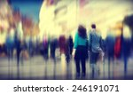 business people rush hour... | Shutterstock . vector #246191071