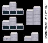podium design for game
