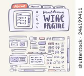 wireframe ui kit. web design...