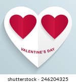 happy valentines day white... | Shutterstock .eps vector #246204325