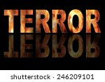 illustration with text terror... | Shutterstock . vector #246209101