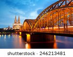view on cologne cathedral and... | Shutterstock . vector #246213481