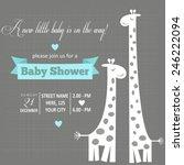 Stock vector baby boy shower card vector illustration 246222094