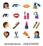 vector color beauty icons on... | Shutterstock .eps vector #246223045