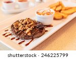 Hamburger Beef Steak With...