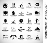restaurant icons set   isolated ... | Shutterstock .eps vector #246227257