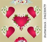 seamless texture  heart with... | Shutterstock .eps vector #246230479