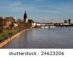frankfurt skyline on the river... | Shutterstock . vector #24623206