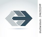 geometric abstract symbol with... | Shutterstock .eps vector #246232249