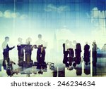 business people silhouette... | Shutterstock . vector #246234634