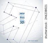 monochrome trendy 3d mesh arrow ...