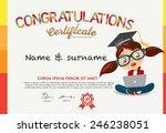 vector certificate for school... | Shutterstock .eps vector #246238051