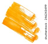 yellow paint isolated on white... | Shutterstock . vector #246243499