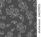 cartoon seamless pattern with... | Shutterstock .eps vector #246259021