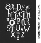 vector hand drawn alphabet... | Shutterstock .eps vector #246261691
