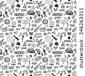 music symbols. seamless pattern | Shutterstock .eps vector #246263311
