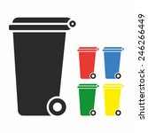 vector recycle bin trash and... | Shutterstock .eps vector #246266449