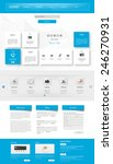 one page website design... | Shutterstock .eps vector #246270931