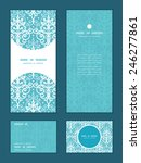 vector light blue swirls damask ... | Shutterstock .eps vector #246277861