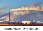 factory with air pollution | Shutterstock . vector #246281035