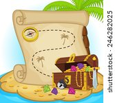 treasure map and treasure chest ... | Shutterstock .eps vector #246282025